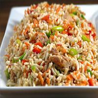 خوراک قارچ با برنج